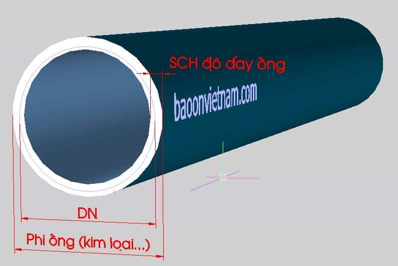 Bảng tra kích thước ống